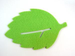 Creative Green Leaf Shape Coffee Tea Bar Cup Mat Pad Cup Coaster Cushion Decoration Protector
