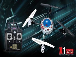 New SYMA X1 2.4G 4CH RC Flying UFO /SPACECRAFT/BumbleBee ultra micro QuadCopter helicopter w/ 360 eversion Gyro