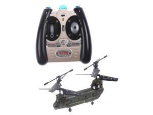 Syma S026G 3 CH Mini Army Chinook RC Remote Control Transport Helicopter S026 W/ Gyro LED RTF gift toy