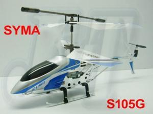 Original SYMA S105 S105G RTF (Blue) 3.5 CH GYRO mini RC alloy helicopter