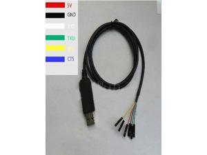 FT232 Brush Line USB to TTL Download Cable 6 Pin with CTS RTS