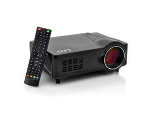 2200 Lumens Multimedia LED Projector - 1000:1, 800x600, HDMI/VGA/USB/SD, Analog TV Antenna Input