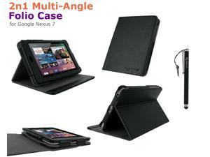 rooCASE 2n1 Multi-Angle Folio Case Cover with Stylus for Google Nexus 7 Tablet