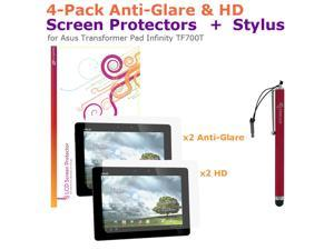 rooCASE Red Stylus & 4x LCD for Asus Transformer Pad Infinity TF700T