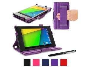 roocase Google Nexus 7 2013 Case - Slim Fit Multi-angle Stand Folio Cover for Nexus 7 FHD 2nd Gen (Supports Auto Sleep/Wake), ...