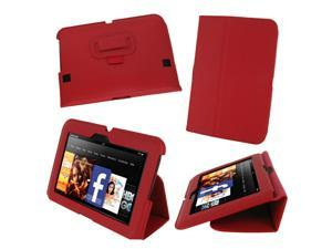 "rooCASE Ultra Slim Folio Case for Kindle Fire HD 7"", Red (Old 2012 Model)"