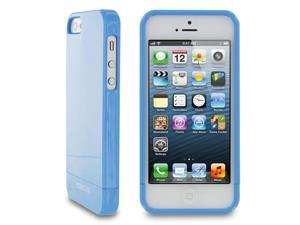 rooCASE Slim Fit 2-Piece Slider Hard Shell Case Cover for Apple iPhone 5S / 5, Gloss Blue