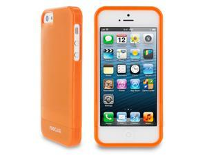 rooCASE Slim Fit 2-Piece Slider Hard Shell Case Cover for Apple iPhone 5S / 5, Gloss Orange