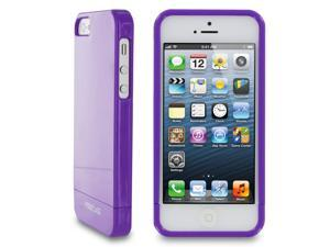 rooCASE Slim Fit 2-Piece Slider Hard Shell Case Cover for Apple iPhone 5S / 5, Gloss Purple