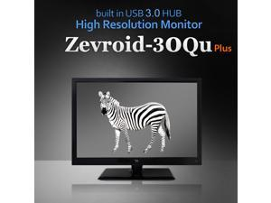 "Perfect Pixel 30"" Zevroid-30QU Plus 2560x1600 S-IPS Built in USB 3.0 HUB DVI-D WQHD Monitor"