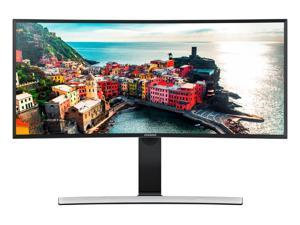 "Samsung S34E790C Glossy Black 34"" Curved WQHD Cinema Wide 4ms (GTG) HDMI LED Backlight LCD Monitor 300 cd/m2 DCR Mega Infinity (3000:1) Dual Speakers, Height Adjustable"