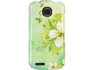 Pantech Marauder (Verizon) Yellow Flower with Butterflies on Lime Protector Faceplate