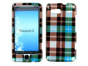 HTC T-Mobile G2 Vanguard Blue Checkered Snap-On Protector Case Faceplate