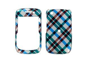 BlackBerry Curve 8520/8530 Blue Plaid Snap-On Protector Case Faceplate