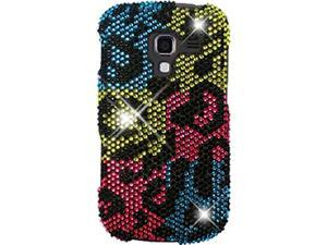 Samsung Galaxy Exhilarate SGH-I577 (ATT) Full Bling Hyper Color Leopard Snap-On Protector Faceplate