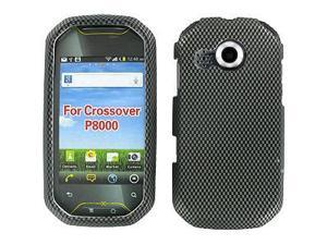 Pantech Crossover P8000 Rubberized Carbon Fiber Snap-On Protector Case Faceplate