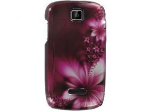Motorola Theory Purple Fuzzy Flowers Snap-On Protector Case Faceplate