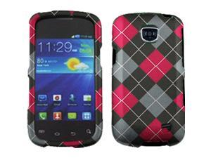 Samsung Galaxy Proclaim / Galaxy Proclaim / Samsung Illusion SCH-I110 Red & Black Argyle Snap-On Protector Faceplate