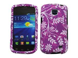 Samsung Galaxy Proclaim / Galaxy Proclaim / Samsung Illusion SCH-I110 Purple Flowers Snap-On Protector Faceplate