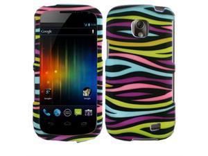 Samsung Galaxy Proclaim / Galaxy Proclaim / Samsung Illusion SCH-I110 Black Rainbow Zebra Snap-On Protector Faceplate