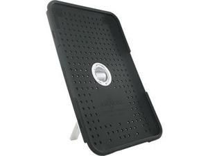 Amazon Kindle 3G Black Silicone/White Plastic Hybrid Case w/Removable Kickstand