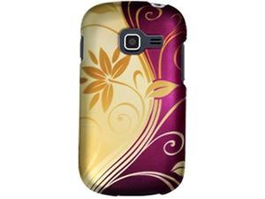 Samsung Galaxy Centura S738C / Galaxy Discover S730G Purple and Gold Swirl Protector Faceplate
