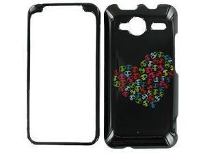 HTC Evo Shift 4G I Heart Skulls Snap-On Protector Case Faceplate