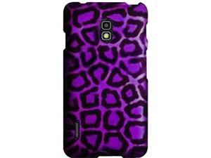 LG Optimus F7 US780 Purple Leopard Snap-On Protector Faceplate