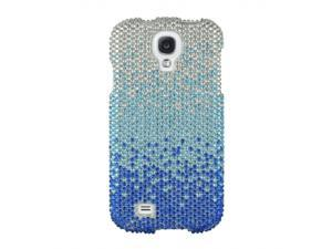 Samsung Galaxy S4 Full Bling Blue Fade Snap-On Protector Faceplate