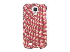 Samsung Galaxy S4 Full Bling Pink Ripple Snap-On Protector Faceplate