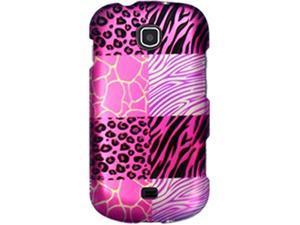 Samsung Galaxy Stellar SCH-I200 (Verizon) Safari Tile Print: Hot Pink Protector Faceplate