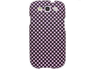 Samsung Galaxy S3 Retro Checkered Pink/ Black Protector Faceplate
