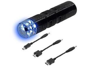 AA Battery Powered Emergency Charger w/LED Flashlight for BlackBerry Curve 8350i