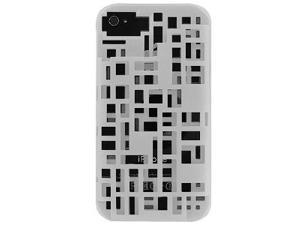 Rubberized 3-D Cut-Out I.D. Case for Apple iPhone 4S (White)