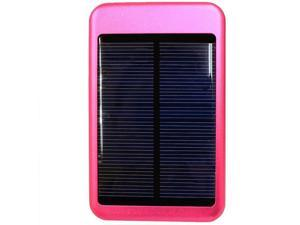 USB and Solar Powered 6000 T-Pocket Universal Charger w/ Interchangeable Adapters (5000 mAh) for HTC Rezound -Hot Pink