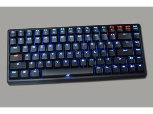 Keycool II 84 Keys Portable Mechanical Gaming Keyboard (BLUE/RED/GREEN/YELLOW/WHITE LED Backlight Available) (RED switches, ...