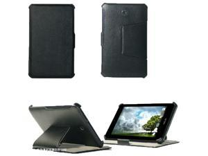 For ASUS MeMO Pad HD 7 ME173X Heat Setting Ultra Slim Leather Holder Stand Case Black