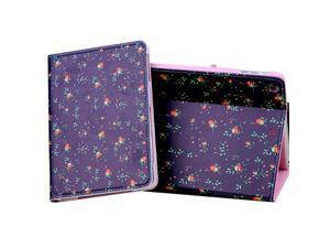 Flowers Pattern PU Leather Case Cover Stand For apple iPad Mini 2 Purple