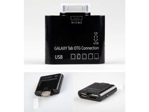 5in1 OTG Adapter USB Card Reader For Samsung Galaxy Note 10.1 N8000 N8010 N8013