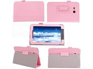 For Samsung Galaxy Tab 3 Lite 7.0 7 inch T110 T111 Tablet Flip Folio Leather Case Stand Cover  Pink
