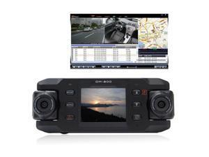 140 degree Wide Dual Lens 2.0inch LCD Car Camera DVR GPS G-sensor 180 degree rotating lens Vehicle Video Recorder Dashcam ...