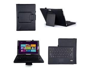 """Detachable Wireless Bluetooth Keyboard Leather Case Cover For Microsoft Surface Pro 3 12"""" Ultrabook"""