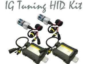 IG Tuning H3 6K 6000K 35W Slim Digital Ballast HID Xenon Conversion Kit Single Beam For Headlights or Fog Lights, Crystal ...