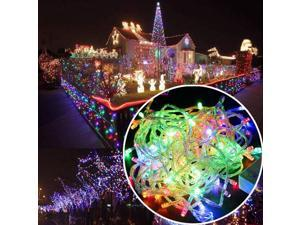 Multi-Color RGB - 200 LED 50 ft Fairy String Lights Lamp for Christmas Tree Holiday Wedding Party Xmas Decoration Halloween Showcase Displays Restaurant or Bar and Home Garden