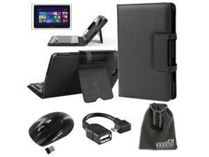 EEEKit 4 in 1  Business kit for Dell Venue 8 Pro,Bluetooth Keyboard Case with Stand+OTG Cable+Mouse