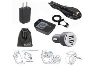 EEEKit for Samsung Gear 2 Neo SM-R381,Wall/Car Charger Charging Cradle Adapter