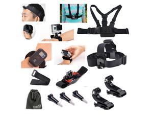 EEEKit for Gopro Hero HD 3+/3/2/1 Camera,Head/Chest/Wrist Mount+Wifi Remote Belt