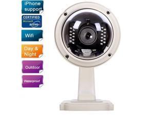 Wanscam Wireless PTZ Outdoor Wi-Fi IP Camera Dome CCTV w/ 3X Optical Zoon, IR-Cut, 2-Way Audio