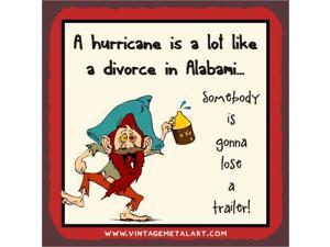 Hurricane A Lot Like Alabami Mini Vintage Tin Sign