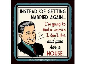 Instead of Getting Married Again Mini Vintage Tin Sign